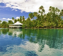 Huahine, French Polynesia-port