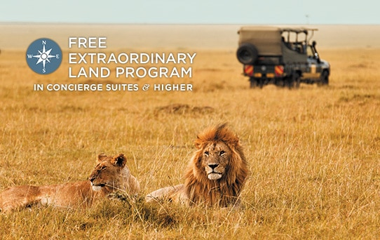FREE Pre-or Post-Cruise Extraordinary Land Program in Concierge Suites & Higher