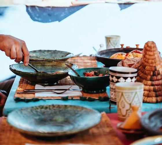 Passeio com Chef e Aula de Culinária Marroquina