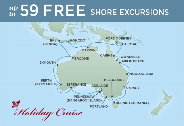 Australia Circumnavigation Cruises - cruise around Australia