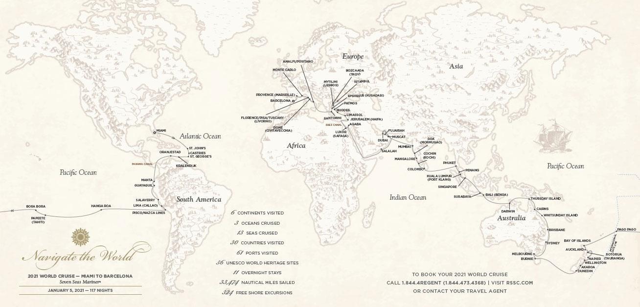 World Cruise Visits 56 UNESCO World Heritage Sites   Regent Seven ...