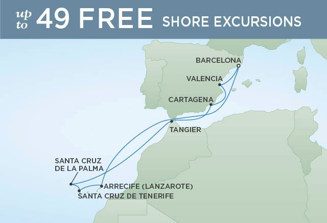 Map Of Spain And Surrounding Islands.Colorful Spain The Canary Islands 10 Nights Departs Apr 17