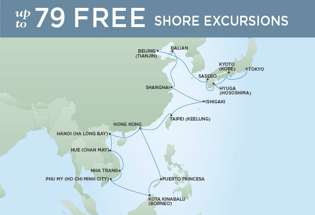 Map Of Asia Seas.The Best Of Asia 28 Nights Departs Mar 09 2021 Seven Seas