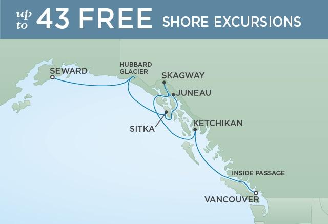 Mapa com o itinerário